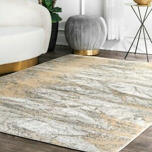 nuLOOM-Contemporary-Contemporary-Abstract-Area-Rug-in-Gold