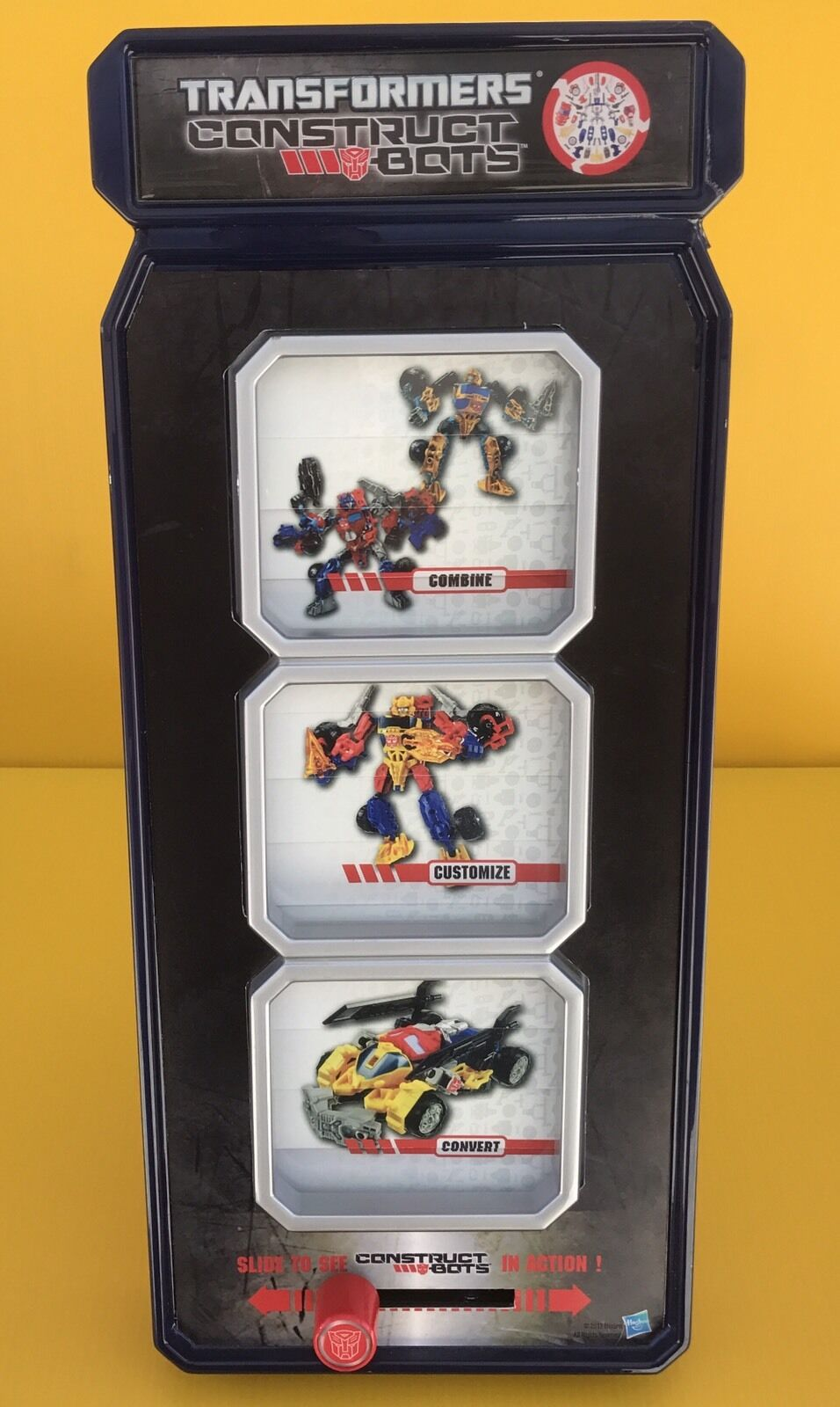 Transformers Construct Bots - Slide To See In Action Display Hasbro -See Details