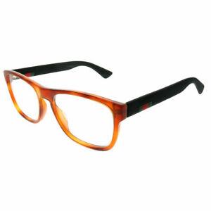 377fb20f40b Gucci GG 0173O 002 Light Havana Plastic Rectangle Eyeglasses 54mm ...