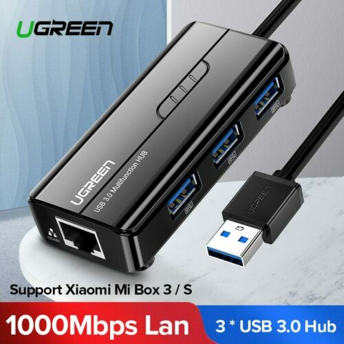 Ugreen USB Ethernet USB 3.0 2.0 to RJ45 HUB for Xiaomi Mi Box 3//S Android TV