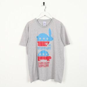 Vintage-ADIDAS-Big-Graphic-Logo-T-Shirt-Tee-Grey-Large-L