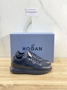 Dettagli su Hogan H371 Interactive 3 Donna In Pelle Nera Luxury Sneakers Hogan 39