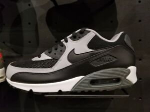 Nike Leather Air Max 90 Essential Mens Wolf Grey Trainers in