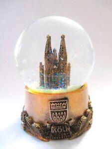 Koeln-Cologne-Dom-Schneekugel-Snowglobe-9-5-cm-Souvenir-Germany-bronz
