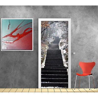 Wallpaper door Staircase snow 617
