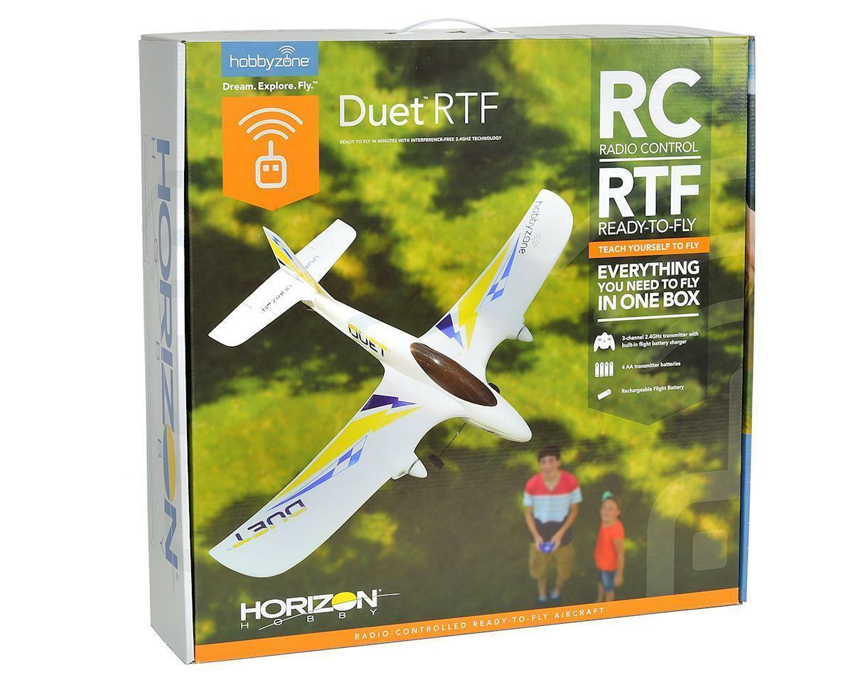 Hobbyzone Duet RC Trainer Beginner Electric Airplane RTF Ready to Fly HBZ5300