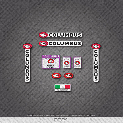 COLUMBUS GARA Bicyclette Cadre Et Fourche stickers-autocollants # 31B