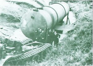 Removal of 22,500 gal.fuel tank in Guernsey 1947(Guernsey Press-Print Postcard)