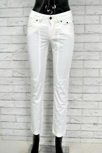 Pantalone-Corto-Bianco-Donna-JECKERSON-Jeans-Taglia-25-39-Pants-Woman-Pant-Femme