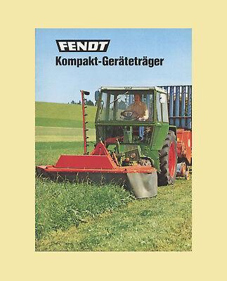 FENDT Geräteträger GT 275 Schlepper Original 1974