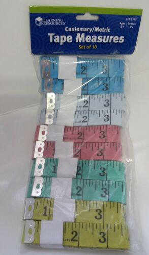 Set of 10 TAPE MEASURES 60 INCH Fiber-glass Ruler Assorted colors BB33//22