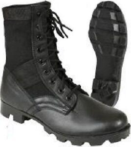 4eb4a6e8b332 Image is loading Steel-Toe-Boots-Black-Military-Vietnam-Style-Jungle-