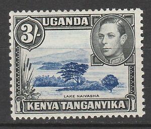 KENYA UGANDA TANGANYIKA 1938 KGVI LAKE NAIVASHA 3/- PERF 13 X 11.75