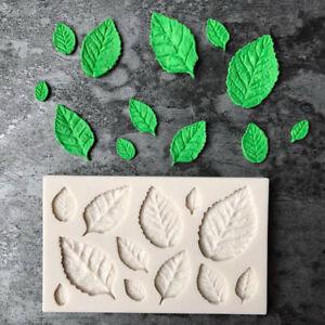 Feuille-en-forme-de-silicone-moule-feuilles-gateau-Decor-fondant-biscuits-moule