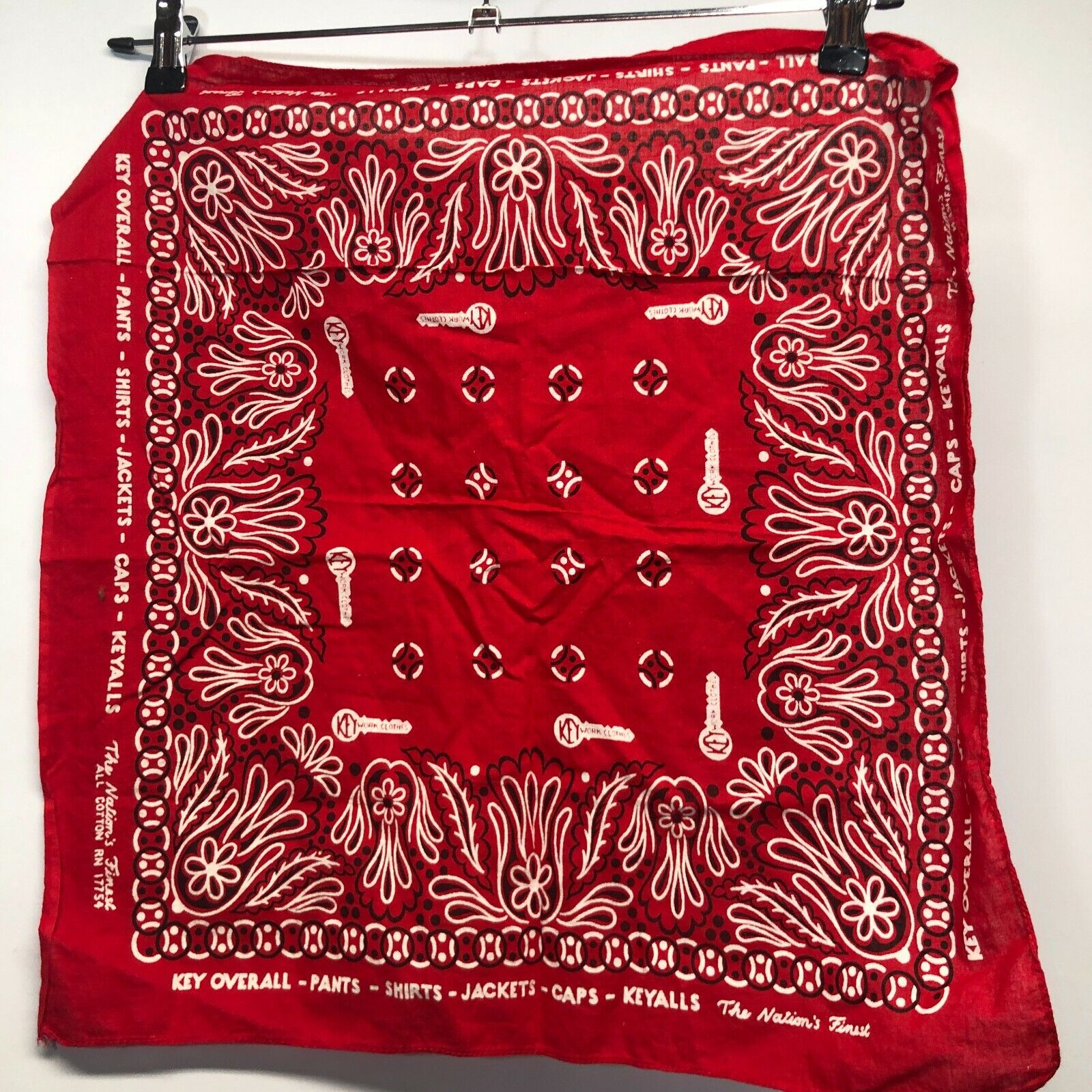 Vintage Key Overalls bandana workwear