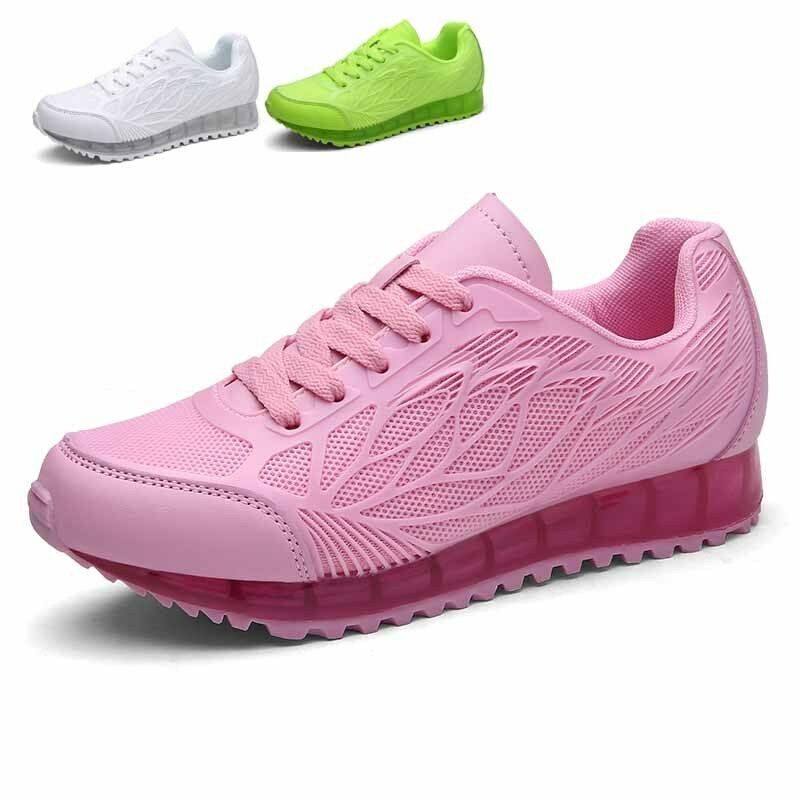 Sport féminin exécutant formation lacets chaussures Sneakers légers respirants