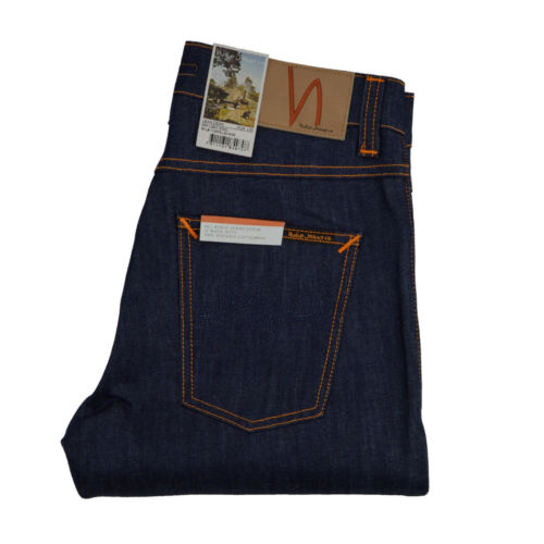 Tapered NUOVO SLIM DRY LIGHT COOL Nudie Lean Dean jeans 112575 Blu scuro