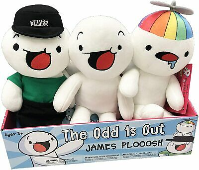 "The Odd 1s Out 8/"" James Plooosh Plush Toy UCC"