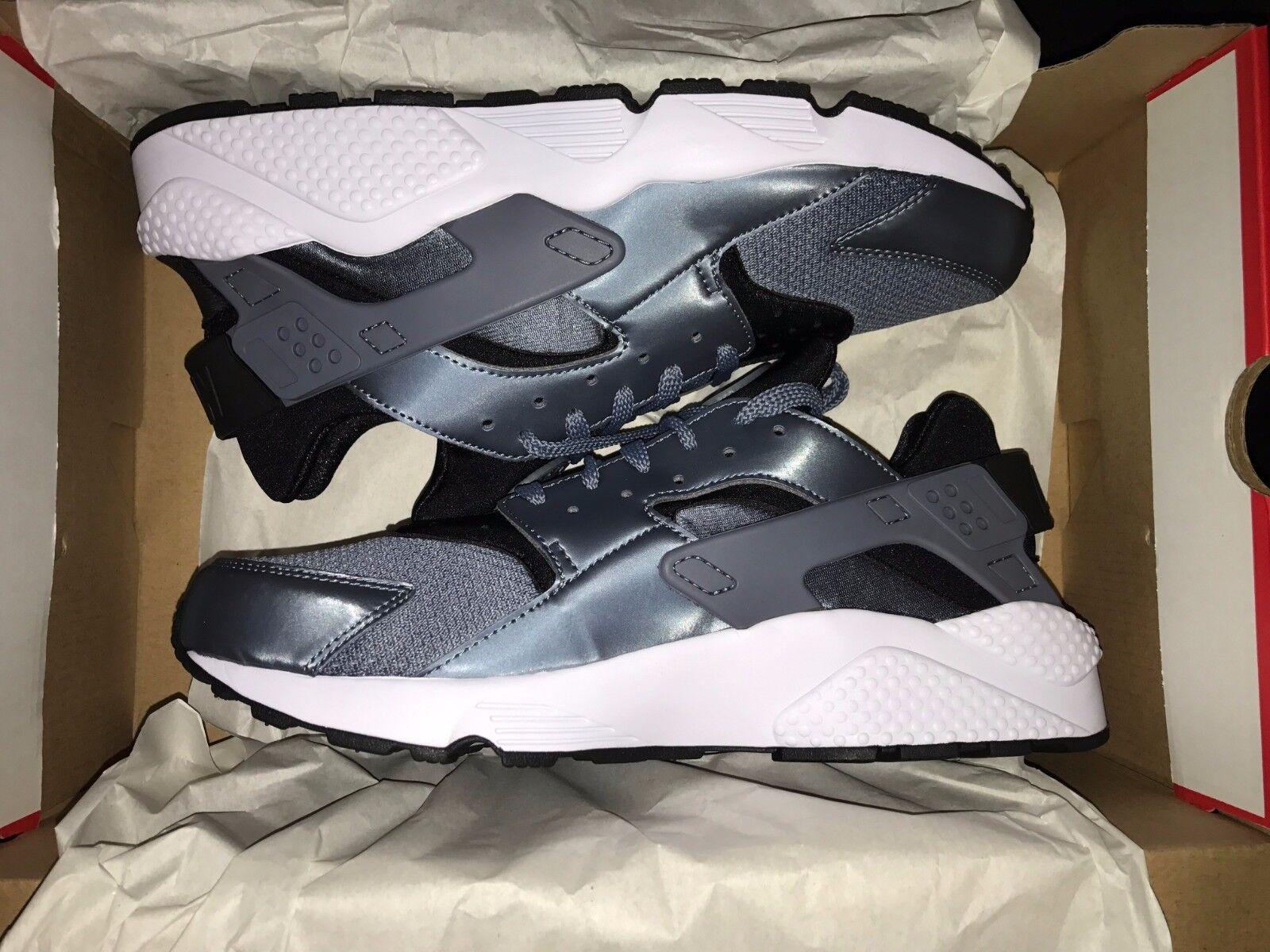 Nike air huarache gray armeria blu e nero e scarpe bianche 318429-419 - numero 10