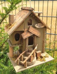 DOLCETTO Uccelli Casetta stanze libere mangiatoia cibo in legno Casa Mangime Uccelli Casa Nuovo  </span>