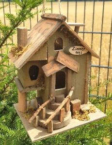 Uccelli casetta stanze libere mangiatoia cibo in legno casa mangime casa casetta  </span>