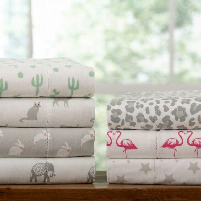 Pillowfort Festive Cactus Flannel Sheet Set Twin For Sale Online Ebay