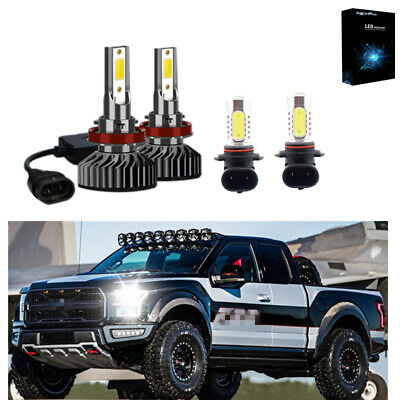 For Ford F150 2015 2016 2017 High Low Beam LED Headlight Kit Fog Light 3900W