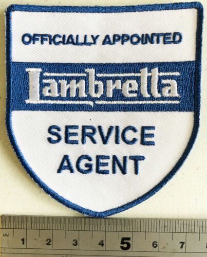 Iron or Sew On Embroidered Officially Appointed LAMBRETTA Service Agent