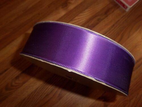 CLEARANCE--Scher Fabrics PURPLE SATIN RIBBON 1⅝ INCH WIDE 85 YARDS