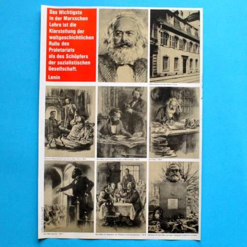 DDR Plakat Poster 142Karl Marx Ehrung 198341 x 29 cm Original Trier London