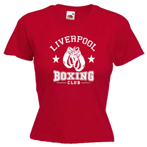 Liverpool Boxing Club Ladies Lady Fit T Shirt 13 Colours Size 6-16