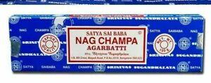 INCENSI-Satya-Baba-NAG-CHAMPA-Bastoncini-di-incenso-1-scatola-x-15gr