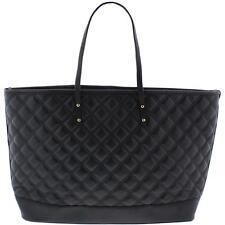 BCBG Paris 7285 Womens New Rise Black Tote Handbag Purse Extra Large BHFO