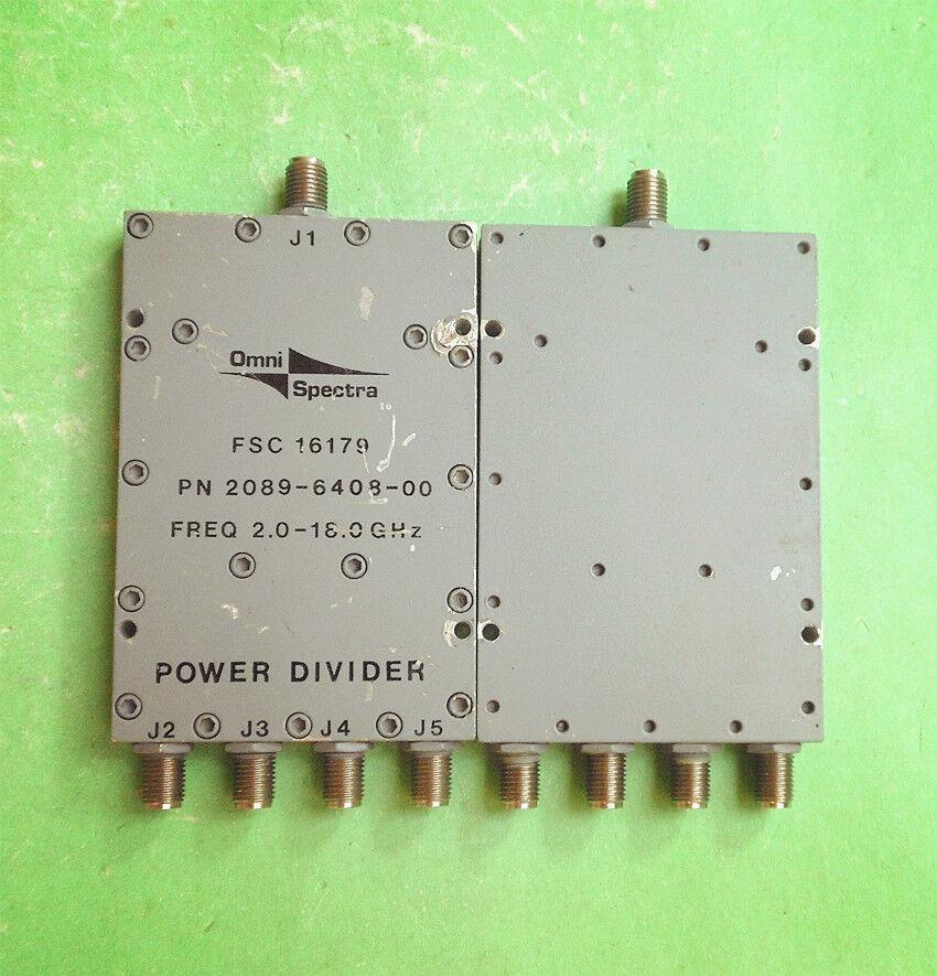 1PC M A-COM 2089-6408-00 2.0-18.0GHz SMA RF Coaxial Quad Splitter