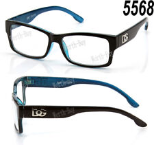 DG Square Clear Lens Frame Glasses Fashion Nerd Mens Womens Designer Blue