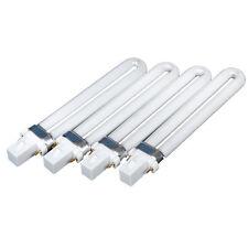 4 X 9W UV Lamp Tube Light Bulbs Gel pPolish Nail Art Dryer Replacement Curing