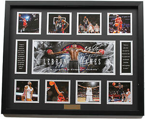 New LeBron James Signed Cleveland Cavaliers Limited Edition Memorabilia Framed