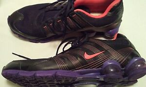 finest selection 070af 042fc Details about Nike Shox Turbo Running Purple Black Pink Lace Up Size 13  Sports Shoes