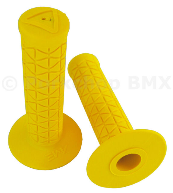 YELLOW *MADE IN USA* AME old school BMX MTB Tri flangeless bicycle grips
