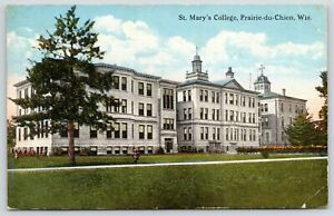 Prairie-du-Chien-Wisconsin-St-Mary-039-s-Catholic-College-1912-Postcard