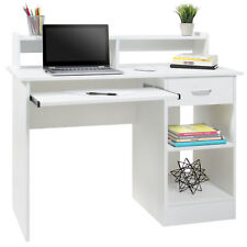 White computer desk Shaped Best Choice Products Computer Desk White Ebay Best Choice Products Computer Desk White Ebay