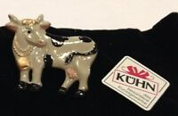 Kuehn Hand Painted Pewter Cow Pin From Germany
