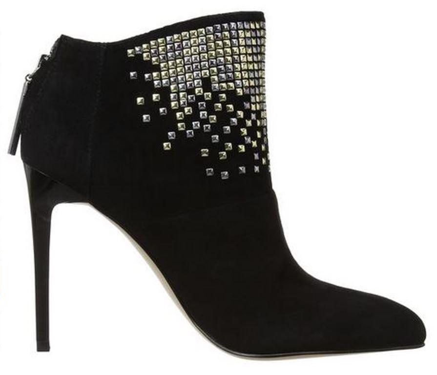 Para mujeres Zapatos French Connection Monroe Monroe Monroe Botín De Tacón Alto Cuadrado Tachuelas Suede Negro  60% de descuento
