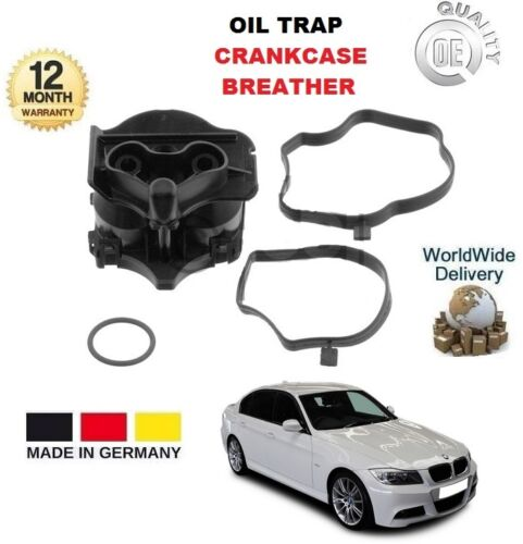 FOR BMW 3 SERIES E90 318 D 320 D 2005-2011 NEW OIL TRAP CRANKCASE BREATHER