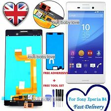 For Sony Xperia M4 Aqua E2303 E2306 LCD White Display Touch Screen Digitizer UK