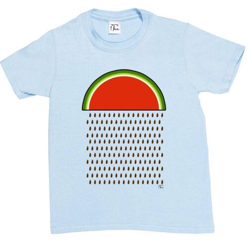 1Tee Kids Boys Watermelon Raining T-Shirt