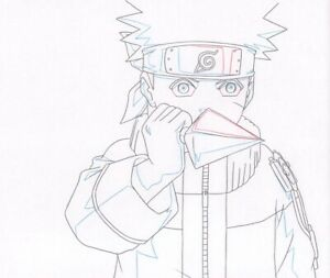 Naruto-Shippuden-Anime-Production-Douga-Drawing-for-Cel-Uzumaki-w-Kunai-Pierrot