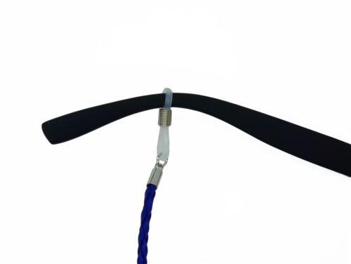 GoOpticians Blue Leather Look Platted Necklace Glasses Cord Spectacle Chain
