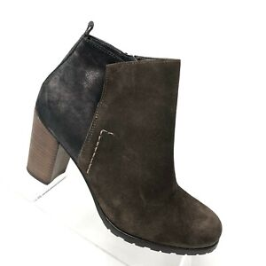 the best attitude e8a6a 5a01a Details about Paul Green Rockin Bootie Brown Suede Zip Metallic Ankle Boot  Womens Shoe SIZE 9