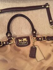 COACH Signature Madison Sophia OP Art Satchel Handbag Purse 18650 Khaki/Brown